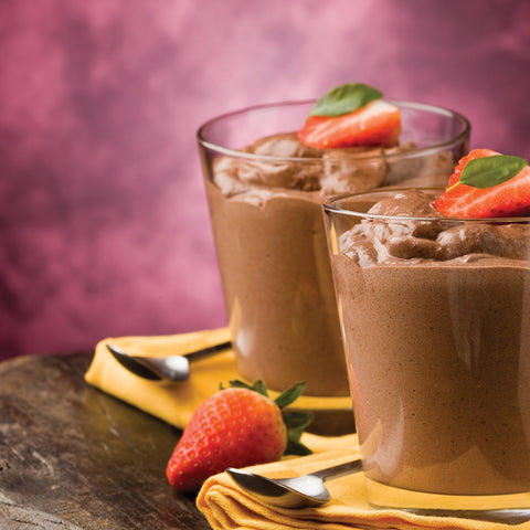Carob Mouse with Strawberries Recipe - Foods Alive