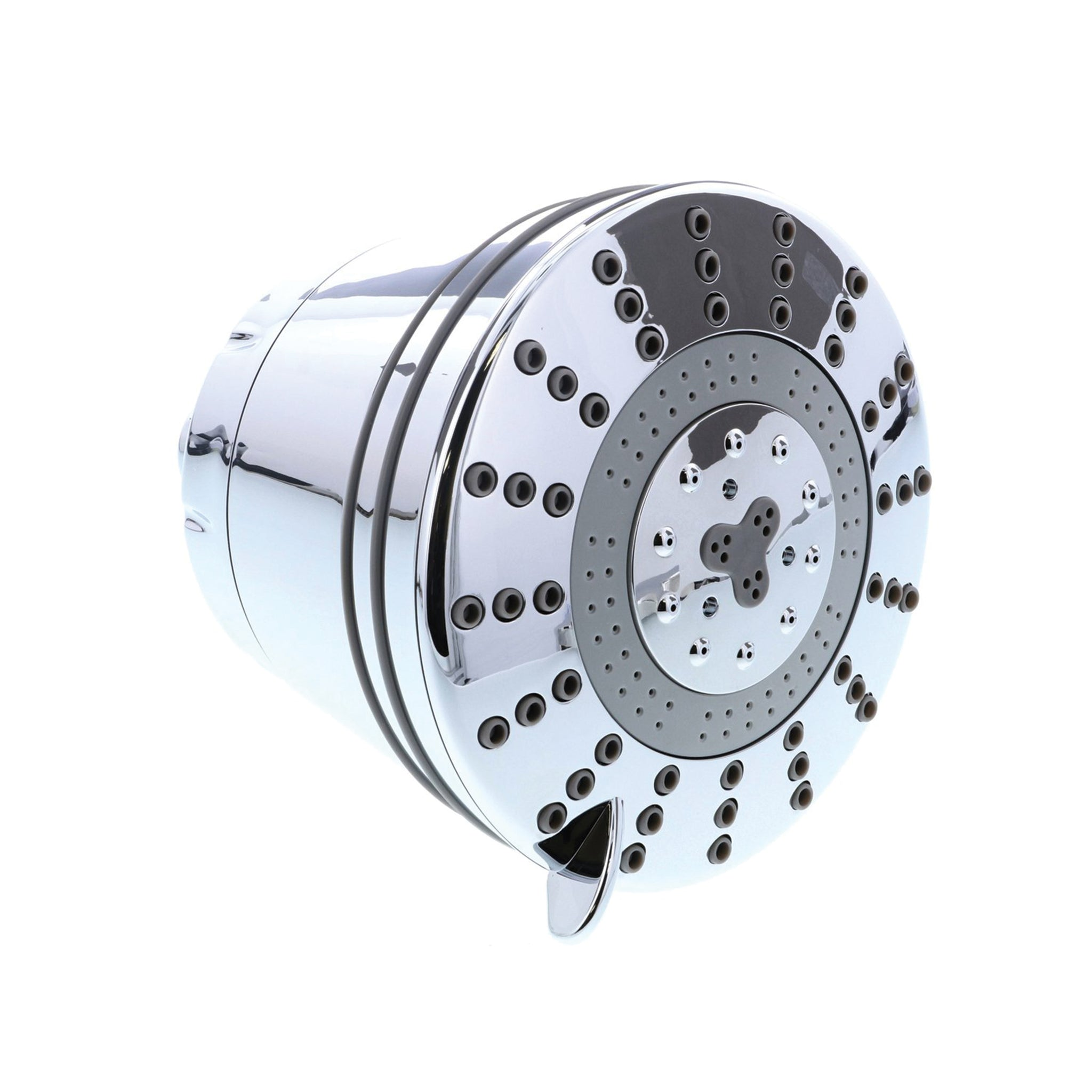 Chrome Shower Head with Filter - Foods Alive - Clearly Filtered