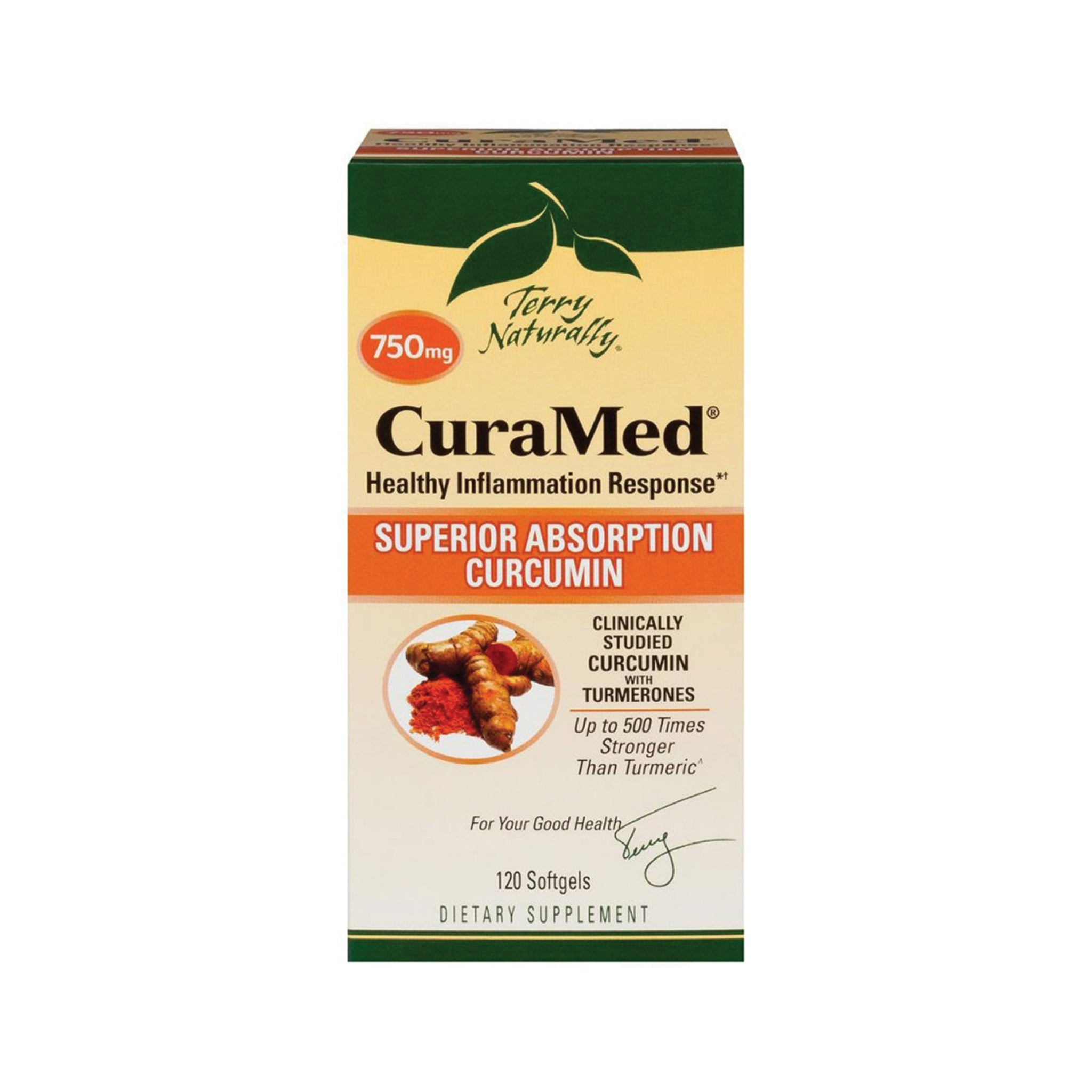CuraMed Healthy Inflammation Response - Superior Absorption Curcumin - Terry Naturally