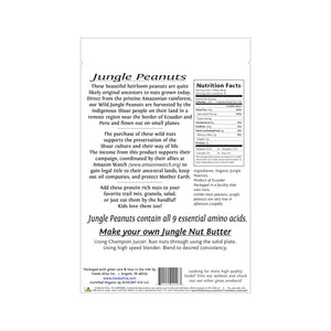 Foods Alive - Organic Wild Jungle Peanuts - 8 oz - Back