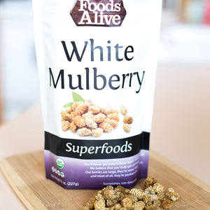 Foods Alive - Organic Mulberries - 8 oz - Front