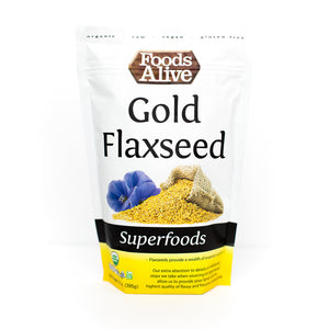 Foods Alive - Organic Golden Flax Seed - 14 oz - Front
