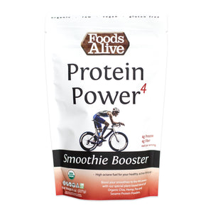 Organic Protein Power 4 Smoothie Booster - 8oz - Front - Foods Alive