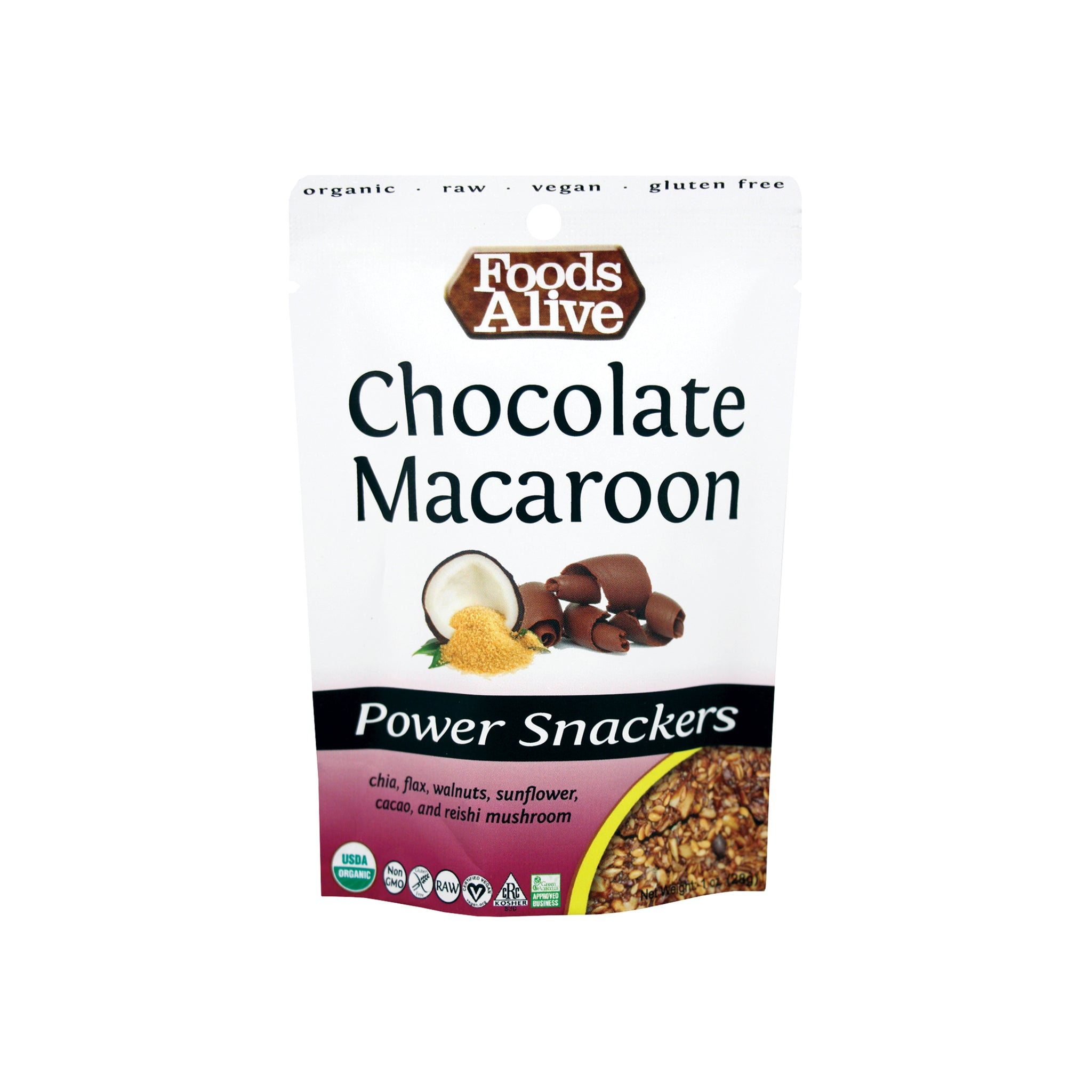Foods Alive - Organic Power Crackers - Chocolate Macaroon - 1 oz
