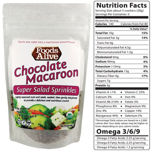 Super Salad Sprinkles - Chocolate Macaroon - Foods Alive