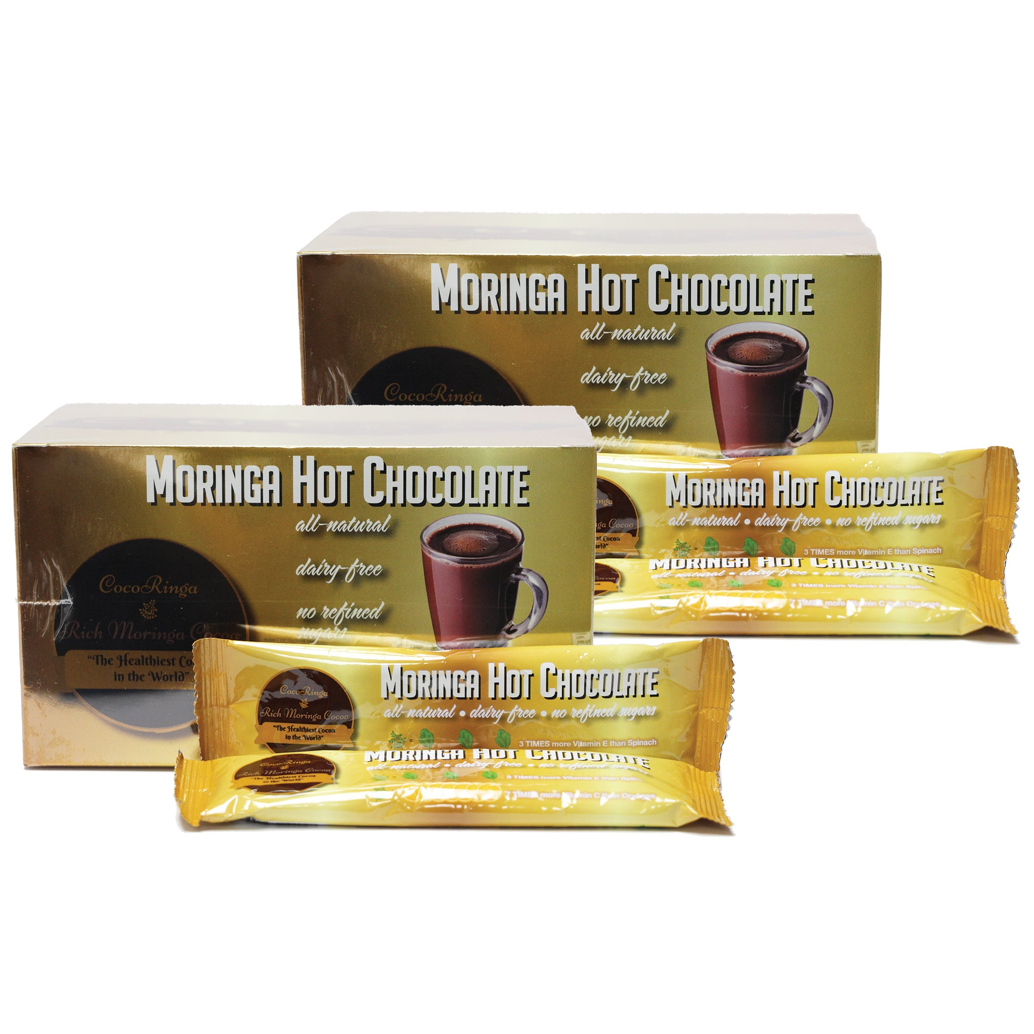 CocoRinga - Moringa Hot Chocolate 2-Pack - Foods Alive