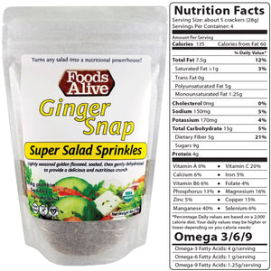 Super Salad Sprinkles - Ginger Snap - Foods Alive