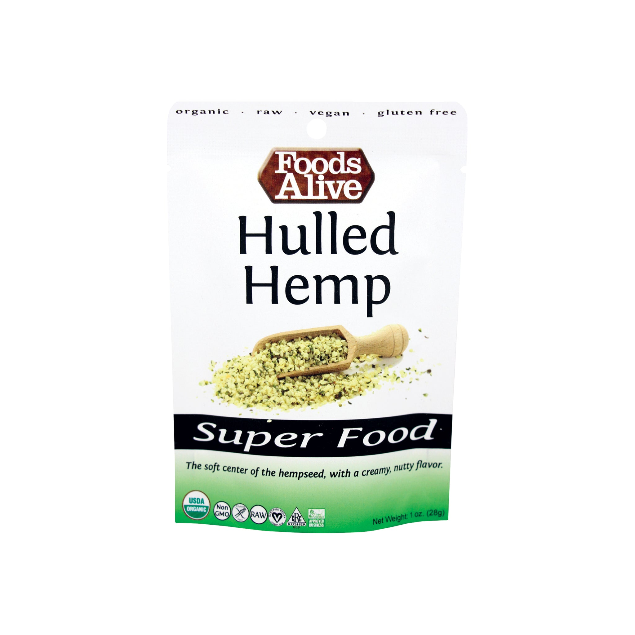 Foods Alive - Organic Hulled Hemp Seeds - 1 oz
