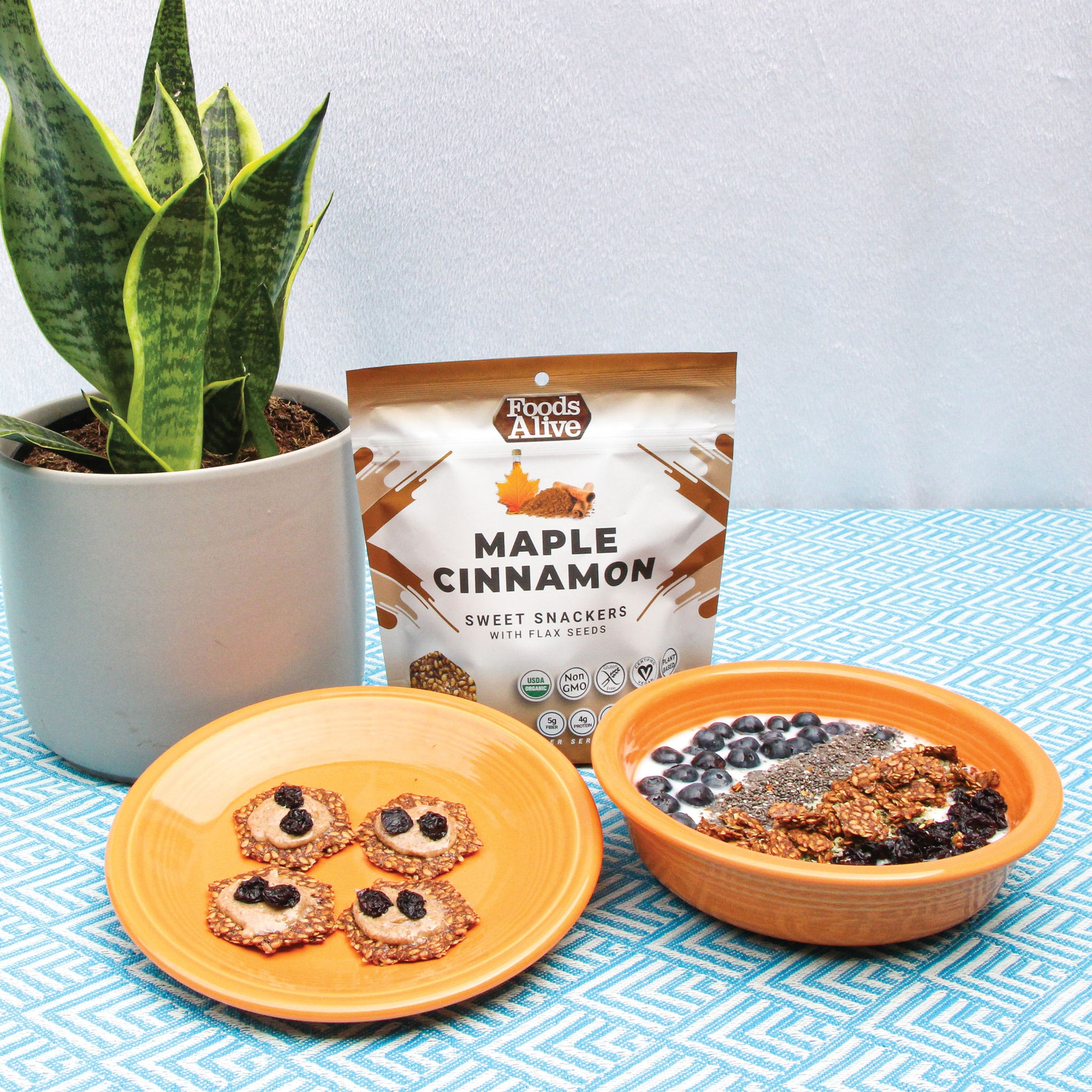 Foods Alive - Organic Flax Snackers - Maple Cinnamon - 4 oz