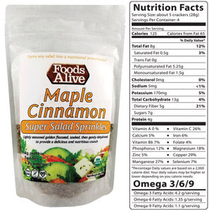 Super Salad Sprinkles - Maple Cinnamon - Foods Alive