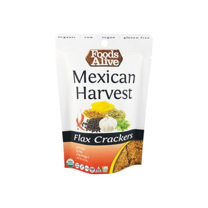 Foods Alive - Organic Flax Crackers - Mexican Harvest - 1 oz - Front