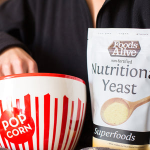 Foods Alive - Nutritional Yeast - 6 oz Popcorn with nutritional yeast