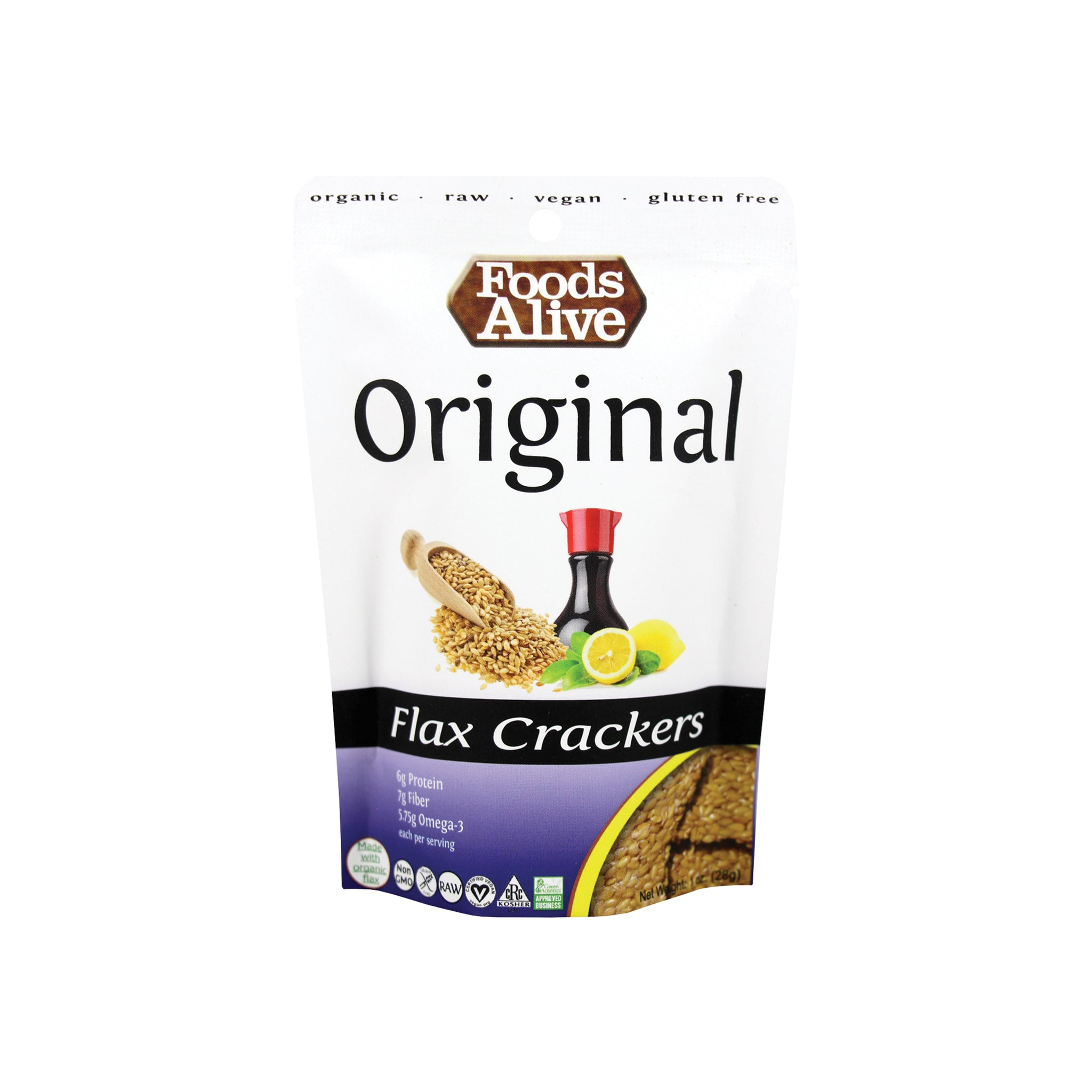 Foods Alive - Original Flax Crackers by Foods Alive - 1 oz