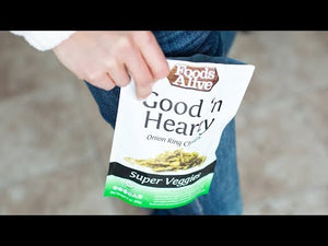 Good'N Hearty Onion Ring Clusters | Dehydrated | Organic, Non-GMO, Gluten Free, Raw, Vegan, Kosher - YouTube Video