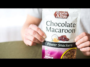 Chocolate Macaroon Power Crackers | Organic, Non-GMO, Gluten Free, Raw, Vegan, Kosher - YouTube Video