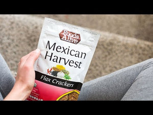 Mexican Harvest Flax Crackers | Organic, Non-GMO, Gluten Free, Raw, Vegan, Kosher