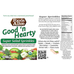 Super Salad Sprinkles - Good'N Hearty - Foods Alive