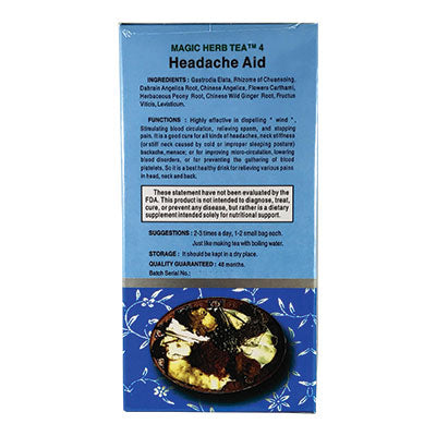 Headaches | Magic 4 Headache Aid Herbal Tea | rootandspring.com