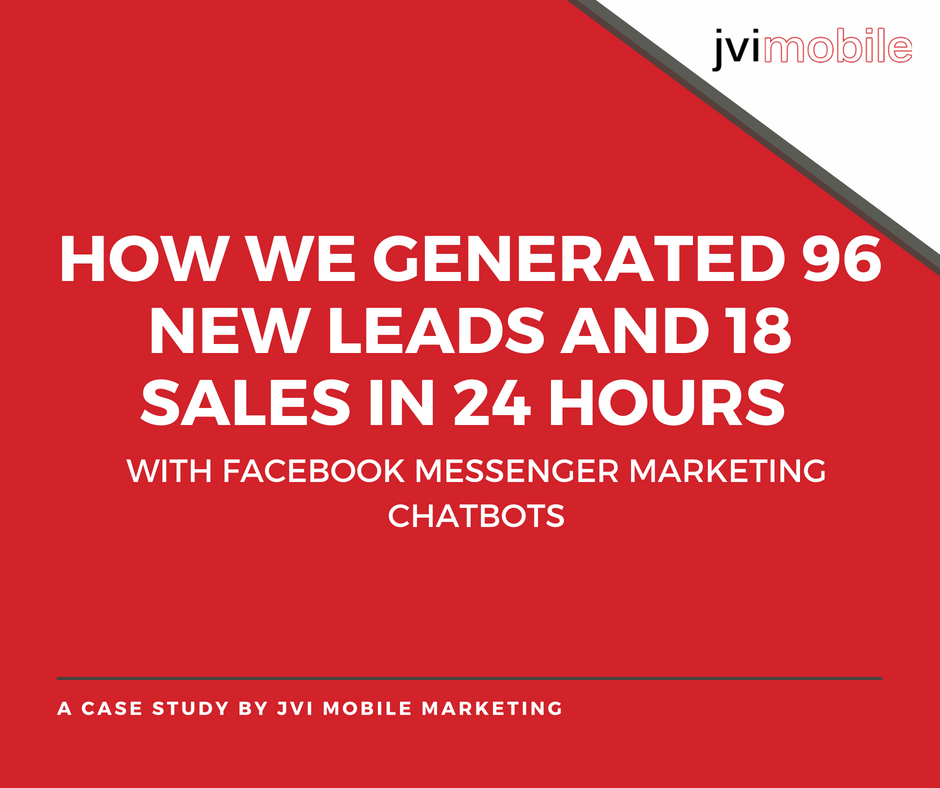 96 Leads - 18 Sales - 24 Hours Case study