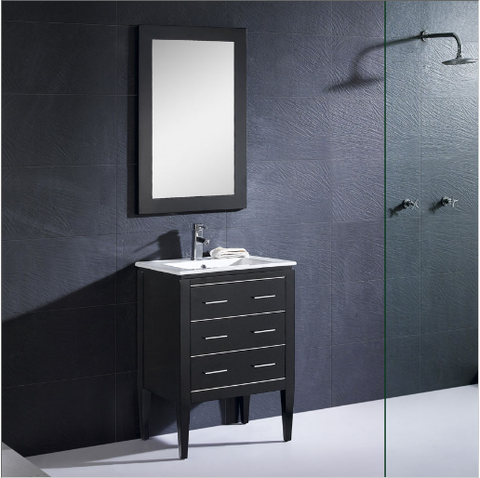 "Dowell 001 Series 24"" Black Vanity"