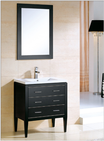 "Dowell 001 Series 30"" Black Vanity"