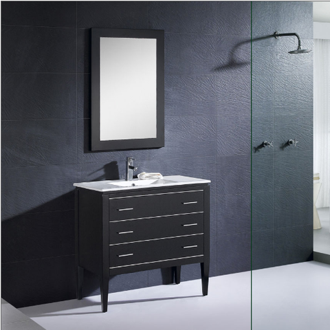 "Dowell 001 Series 36"" Black Vanity"
