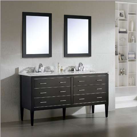 "Dowell 001 Series 60"" Black Vanity"