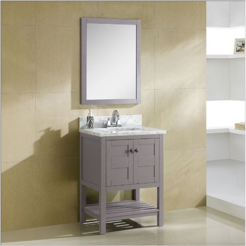 "Dowell 005 Series 24"" Grey Vanity"