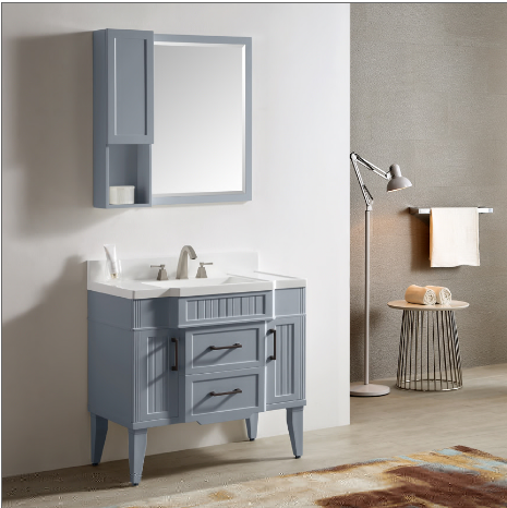 "Dowell 020 Series 36"" Gray-blue Vanity"
