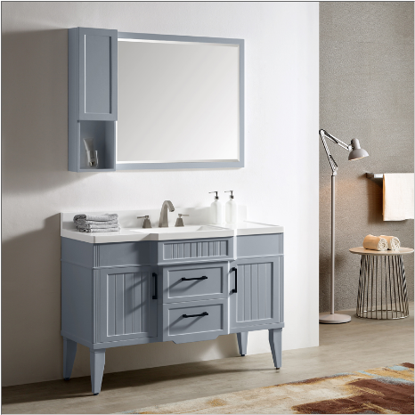 "Dowell 020 Series 48"" Gray-blue Vanity"