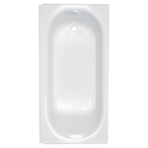 "American Standard Princeton 60"" x 30"" Americast Apron-Front Bathtub with Left Hand Drain and Built-In Overflow 2390.202ICH.020"