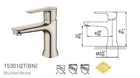 Pasgo 15301QT Brushed Nickel