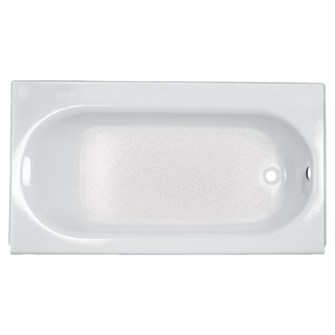 "American Standard 60"" x 34"" Integral Apron Bathtub with Drain and Luxury Ledge AFR 2397202ICH.020"