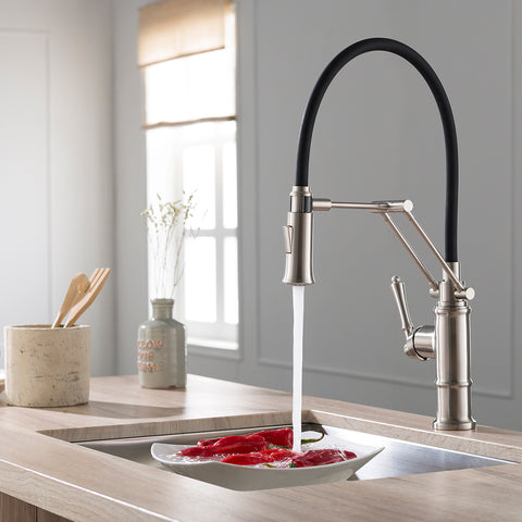 Single Handle Pull Out Kitchen Faucet – F01 209 02 Brushed Nickel