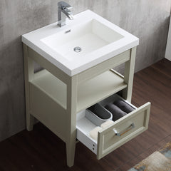 "Dowell 022 Series Gray Green 24"" Bathroom Vanity"