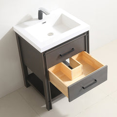"Dowell 028 Series Smokey Oak 24"" Bathroom Vanity"