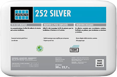 Laticrete 252 Silver Rating Thin Set Mortar 50lbs White