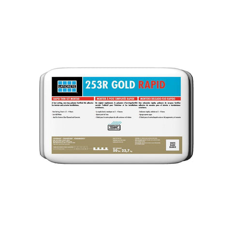 Laticrete 253R Gold Rating Rapid Setting Thin Set Mortar 50lbs Gray