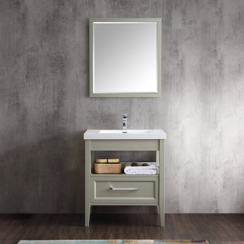 "Dowell 022 Series Gray Green 30"" Bathroom Vanity"