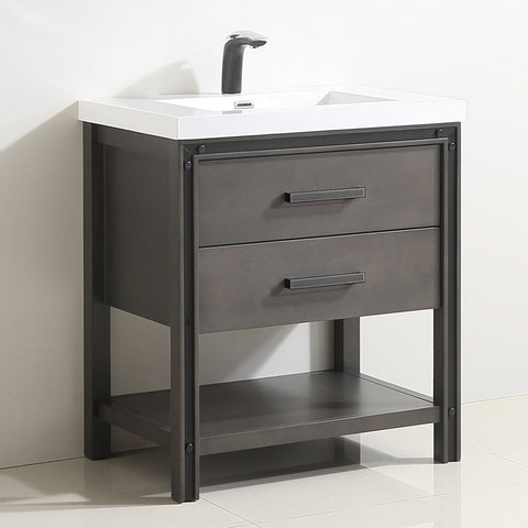 "Dowell 028 Series Smokey Oak 30"" Bathroom Vanity"