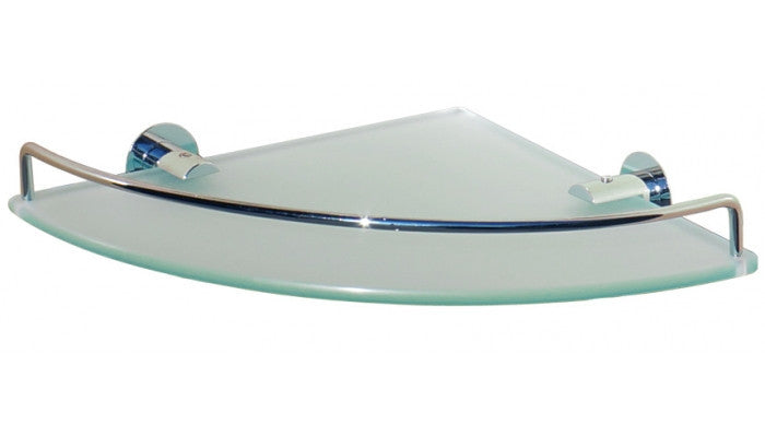 Dowell Bath Glass Shelf Single Corner 2001 001 01