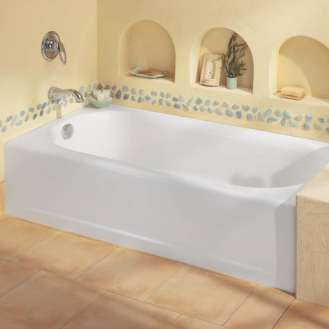 "American Standard Princeton 60"" x 30"" Americast Apron-Front Bathtub with Left Hand Drain 2390202.020"