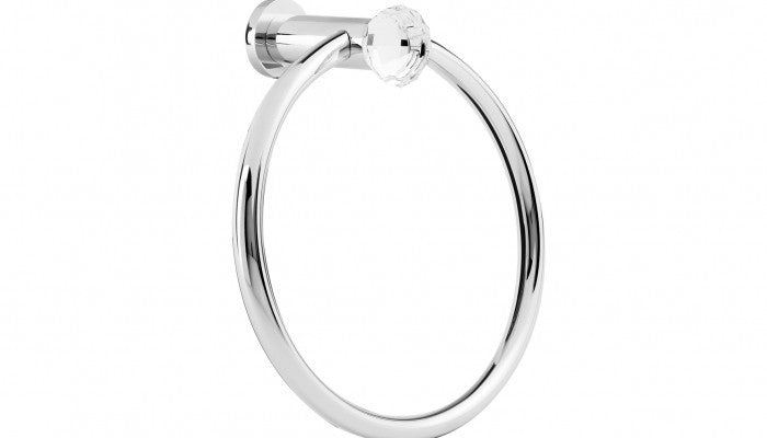 Macral Design Rock Collection Towel Ring Polished Chrome 16.002-CROM.