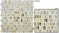 Enchanted Flavors Series Glass Mosaic Crunched Pecan EF-611