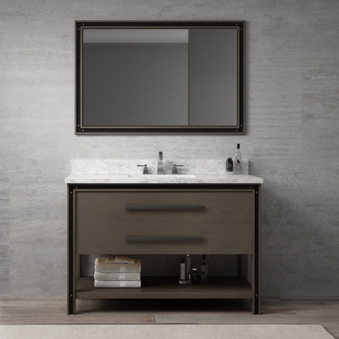 "Dowell 028 Series Smokey Oak 48"" Bathroom Vanity"