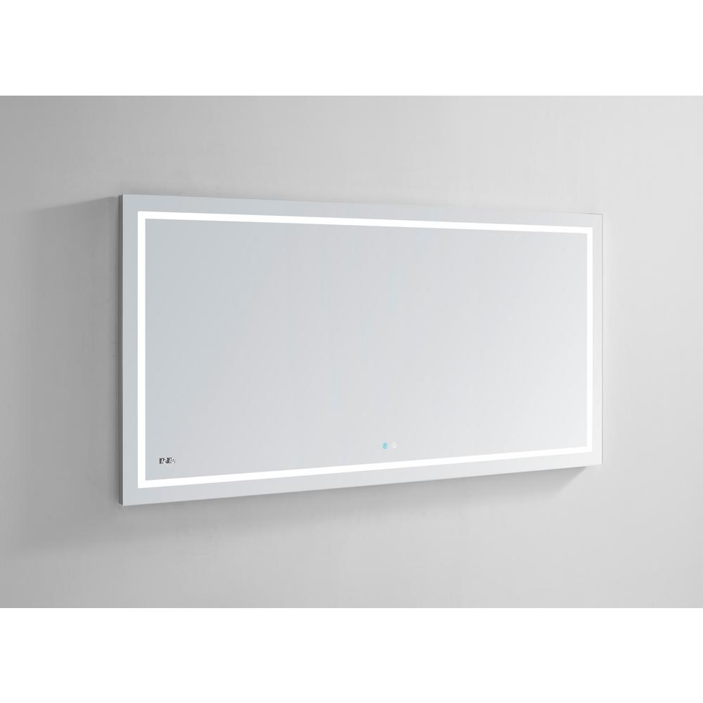 Aquadom LED Mirror Touch control with Dimmer Defogger Clock DAYTONA6030