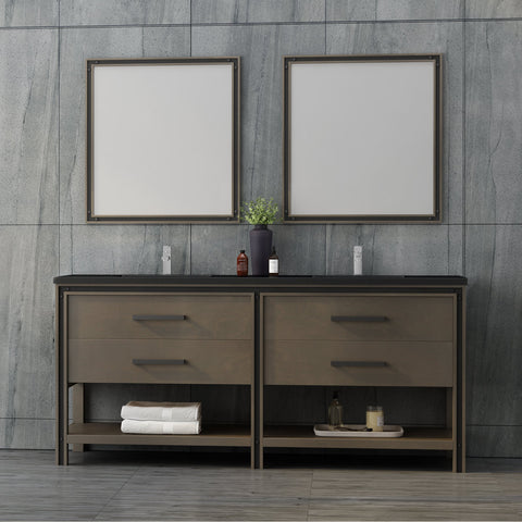 "Dowell 028 Series Smokey Oak 72"" Bathroom Vanity"