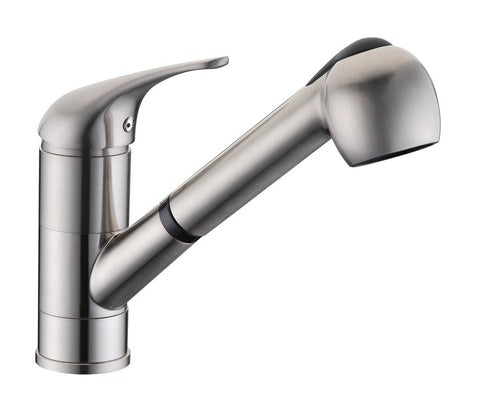 Single Handle Pull-Out Kitchen Faucet 8002 001 02 Brushed Nickel