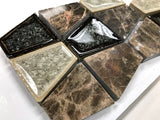 Tranquil Trapezoid TS-936 Rocky Road Series Glass Mosaic