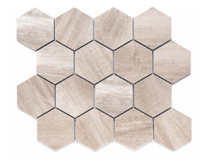 "Merola Tile Amazon Beige Hexagon on 12"" x 12"""